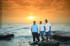 The LandScapers (A.alFoudry) Tags: ocean sea sky cloud seascape beach rock clouds sunrise canon landscape eos rocks flash tripod full frame land 5d kuwait usm fullframe scape 2008 timer tobacco ef 1740mm canonef1740mmf4lusm kuwaiti q8 abdullah cokin  fliter f4l canoneos5d  kuw q80 xnuzha alfoudry   abdullahalfoudry  foudryphotocom salehalghaith  baderalajeel