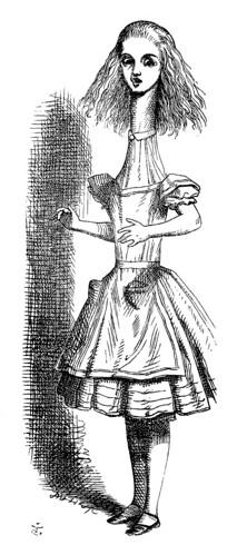 B- Alicia creciendo-Edición 1866 –Tenniel