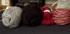 Christmas knittin'