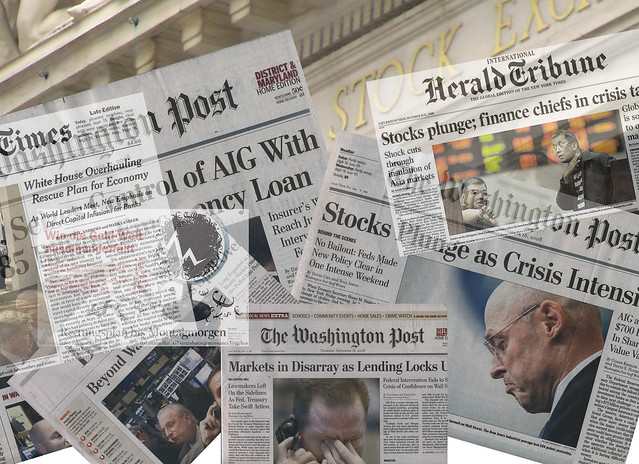 Financial Crisis Headline Montage (pingnews)