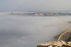 mar de niebla (briveira) Tags: sea fog mar corua torre millenium galicia niebla hercules hrcules milenium orzn orzan briveiracom