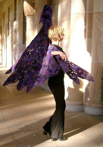 purple shawl by Prudence