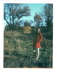 When our color dies (Kate Pulley) Tags: red amanda fall girl polaroid sister coat land headband 320 packfilm iduv sleepingatlastlyrics