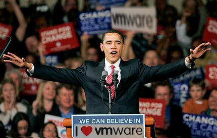 Barak Obama loves VMware