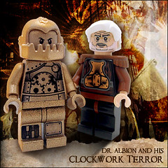Dr. Albion and his Clockwork Terror (Morgan190) Tags: halloween canon scary lego powershot creepy minifig custom a510 minifigure canona510 fineclonier customminifig morgan19 hauntedhalloweencustomminifigcontest