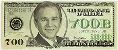 dubya dolla bill-yall ! (eeyorenada) Tags: money photoshop georgebush gw currency thefreelancestar 700billion