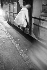 (Csheemoney) Tags: city motion blur walking lights crowd going dirty rush hype hurry belgrade beograd