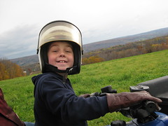 Zach drives the quad in Herkimer