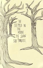 (_venusinfurs_) Tags: tree ink sad drawing bobdylan forests hardrain