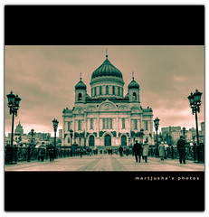 Cathedral of Christ the Saviour (Moscow) (Martjusha) Tags: autumn light church russia moscow autunno luce mosca hram nostrobistinfo