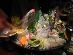 Mountain of sashimi