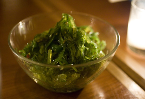 Mixed seaweed chuka salad with sesame and chili