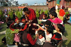 travel nepal red green me kids last out children outside religious sitting sweet buddhist spooning some monk buddhism give blessing creativecommons nectar tibetan kathmandu wong tradition spiritual too enlightenment blessed tantra esoteric nationalgeographic initiation boudha empowerment sakya tibetanbuddhism bodha vajrayana milkandhoney encarnado wonderlane 6711 lamdre tharlammonastery highyogatantraempowerment sakyalamdre amonkspoonsoutnectar atibetanbuddhistblessingforthechildrenandadultsoutsidethemonasterywearingblindfolds highestyogatantraempowerment