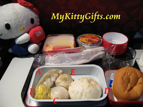 Hello Kitty's Dim Sum Breakfast on Cathay Pacific Airlines