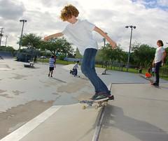 Palmetto Bay Park-11-11-08 (sk8miami) Tags: adam pie fun skateboarding kick miami air patrick ollie corey skatepark flip skateboard manual zack boardslide tweaked 5050 sk8 crook heal  biscayne ninos sesh heelflip downtownmiami noseslide