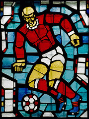 football player (low noise) Tags: glass painting football mosaic player