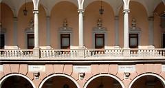 palazzo tursi (borzoli, cornigliano, sestri ponente) (dottorpeni) Tags: pink italy stone architecture italia genoa genova symmetric column ghesemmu