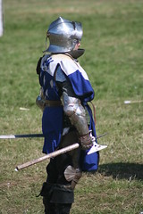 IMG_5450 (jgmdoran) Tags: canon flags archer reenactment 2007 militaryodyssey platemail lancastrians billhook arquebus waroftheroses highmedieval yorkists