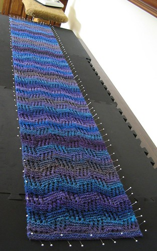 Midwest Moonlight Scarf blocked