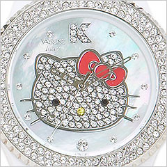 2009 Hello Kitty Collector Edition Swarovski Crystal Encrusted Watch Face