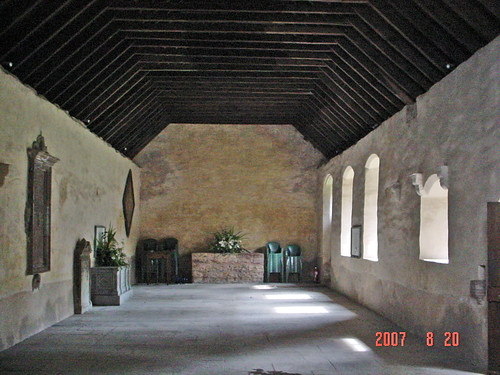 Inside Innerpeffray Chapel, Scotland