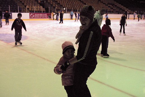teaching kate to ice skate