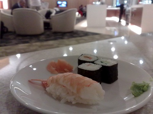 Sushi at Changi T2's new SATS Premier Lounge