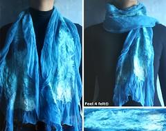 [echarpe (Helena Pinto - myGraftySide) Tags: wool wet scarf felting artesanal silk felt merino fabric feltro seda nuno filz l artscrafts echarpe cachecol feutre fieltro fffriends feel4felt guaesabo