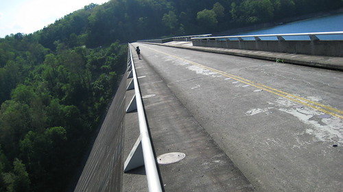 Crossing the Fontana Dam