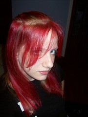 Vampire Red (Sirentrance) Tags: red girl hair blonde dye manicpanic