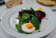 Beetroot, Boiled Egg & Anchovy