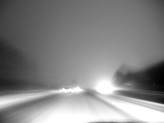 impression: crepuscule (Cat Johnson) Tags: road blackandwhite snow window glass dark blackwhite nikon 4x4 dusk february fleeting a45 impression crepuscule blackdiamond qualitypixels
