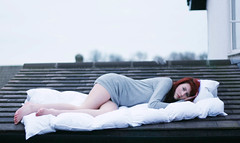 duvet day (francesca-jane) Tags: blue roof red house cold girl hair allen sleep francesca tired frenchie tops duvet