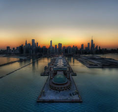 Chicago Thaws into Spring (Stuck in Customs) Tags: lighting city blue light sunset sea wallpaper orange usa chicago hot art texture love colors beautiful look modern composition reflections painting out relax fun photography illinois amazing cool intense rainbow nikon perfect exposure downtown shoot artist mood photographer view shot angle bright image wind vibrant unique background horizon d2x picture surreal chitown romance edge serenity processing stunning pro resolution romantic navypier framing lovely capture breeze emotions tones magical chill hdr exciting treatment excitment stuckincustoms treyratcliff