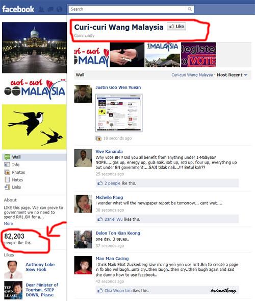 Curi-curi Wang Malaysia Facebook Page