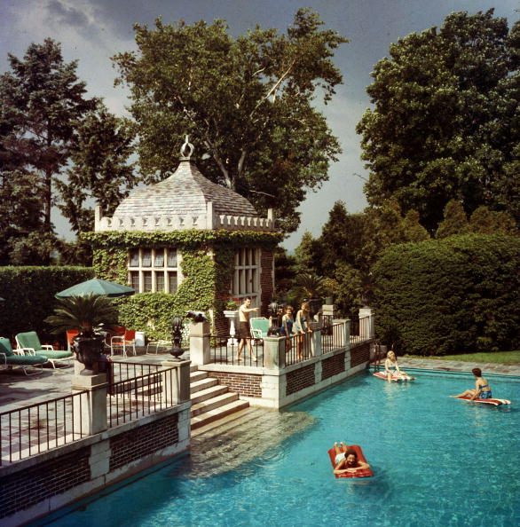 Slim Aarons Family Pool
