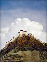Monastery above Shigatse 2 (Katarina 2353) Tags: china travel film church photography nikon asia flickr image religion paisaje tibet monastery sacred paysage priroda himalayas tashilumpo pejza tibetanlandscape katarinastefanovic katarina2353