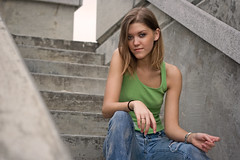 Hayley (chris86403) Tags: portrait color girl pier steps jeans tanktop wrightsvillebeach wilmingtonnc johnnymercer hayleylovitt