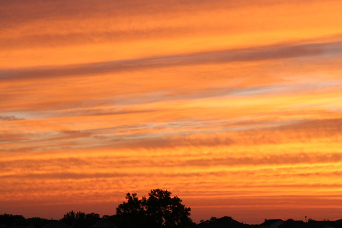 sunset fire sky 3