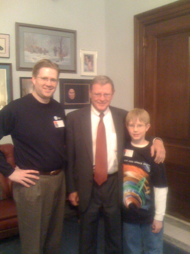 With Jim Inhofe in his office prior to o by Wesley Fryer, on Flickr