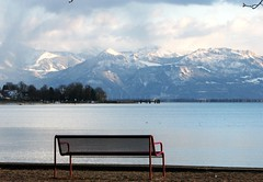 Lake Constance - Bodensee (Heiko Brinkmann) Tags: mountains alps germany bench deutschland bodensee lakeconstance badenwuerttemberg kressbronn anawesomeshot hickoree
