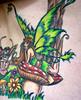 Me 78/366 (Kerrie Lynn Photography (Sugaree_GD)) Tags: selfportrait green mushroom yellow tattoo 50mm back wings fairy faery fancy 365 kerrie laying thinkingofyou amybrown tattooed 78366 staceysharp sugareegd inkalternative