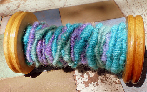 Bobbin of corespun yarn