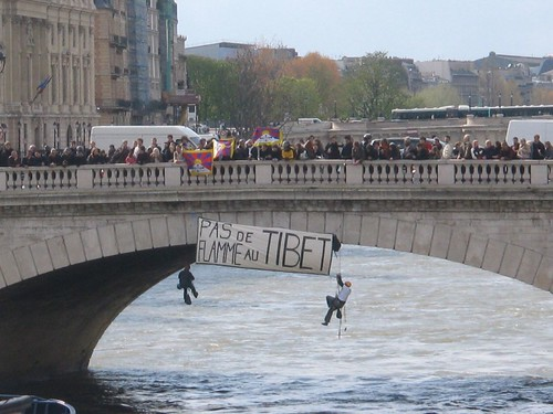 Free Tibet Paris Protest April 7