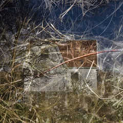 The house in the pool (gothicburg) Tags: grass photoshop square bubbles twigs archipelago lightroom brnn bsquare