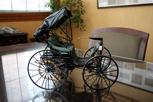 Model of first Duryea automobile. Photo by H Brandon