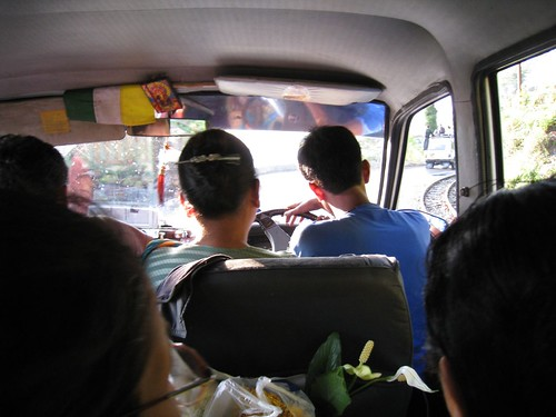 The driver only had half a seat most of the trip - it did not inspire confidence!