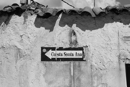cusco cuzco peru street sign