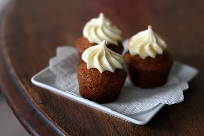 Carrot Cupcakes w/ Cream Cheese Frosting