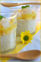 tapioca puds (bellnad) Tags: yellow pudding picked jackfruit tapiocapearl natadecoco